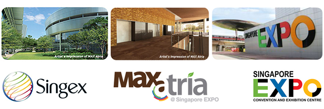 Branding for Singapore EXPO, Singex and Max Atria